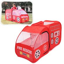 Portable Fire Truck Play Tent Kids Pop Up Indoor Outdoor Playhouse Toy Gift
