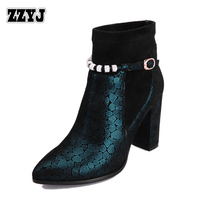 ZZYJ Women's leather high heels sexy top fashion mixed color motorcycle boots autumn winter knight boots large size ladies shoes