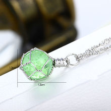 1 PCS Fashion Newfangled 1Pc Novel Luminous Crystal Ball Glow In The Dark Necklace Hot Sale fine jewelry 2 color New