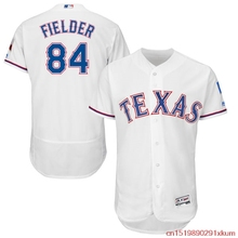 MLB Men's Texas Rangers Prince Fielder 84 Baseball Home White Flex Base Authentic Collection Player Jersey(China)