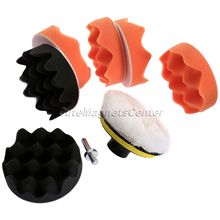 9Pcs 4 Inch Car Sayling Buffing Pad Kits Compound Polishing Car Sponge Cleaning Tools+M10 Drill Adapter Auto Wash Care Clean Set