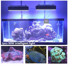 DSunY 180W Full Spectrum LED Lighting Marine Aquarium Reef Coral SPS LPS Sunrise Sunset Cloudy Storm Moon Aquario Dimmable Timer