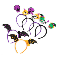 1PC Pumpkin witch Skull Halloween Hairbands Head band Headress Xmas Party Decorations Festival supplies 6 Styles(China)