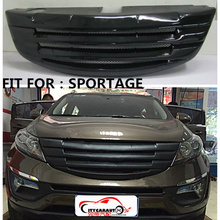 CITYCARAUTO TOP QUALITY SHINY MATTE BLACK FRONT RACING GRILL GRILLE CAR STYLING FRONT COVER GRILLS FIT FOR kiA SPORTAGE 2010-14