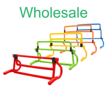 Wholesale Soccer training hurdle folding football speed exercise barrier adjustable 4 sizes hurdles shrink equipment