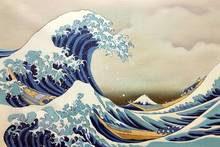Handmade Japanese Canvas Wall Picture Landscape Oil Painting Home Decor Art The Great Wave off Kanagawa by Katsushika Hokusai