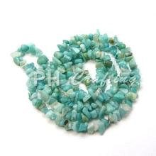 Natural Amazonite Stone Beads Chips for Jewelry Making Dyed SkyBlue Fit Craft DIY Bracelets Accessories Supplies About0.86m long(China)
