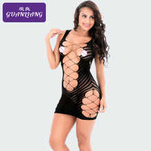 Buy Wetlook Sexy Lingerie Women Erotic Sleepwear Bodycon Hollow Cross Belt Ouverte Sexy Teddy Leotard Intimates Open crotch Jacquard