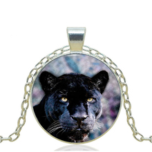 1pcs/lot 2017 New Fashion Black Panther Logo Pendant Necklace Vintage Chain Choker Statement Necklace Jewelry Art of Necklace