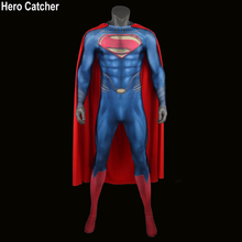 Hero Catcher High Quality 3D Logo Superman Suit Man of Steel Cosplay Costume Superman Costume With Cape 3D Print Hero Costume