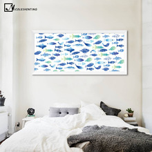 Marine Animals Fish Canvas Poster Minimalist Art Canvas Painting Wall Picture Huge Print Modern Children Living Room Decor 245