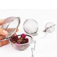 Hot Kitchen Tea Infuser Stainless Steel Tea Pot Infuser Sphere Mesh Tea Strainer Handle Tea Ball #69935(China)