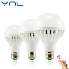 YNL Sound Motion Sensor Automatic Smart LED Bulb E27 3W 5W 7W 9W 12W White 220V SMD5730 Detection Lampada LED Sound Sensor lamp