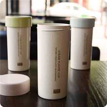 children Hot Selling  milk of NATURAL Green Wheat Straw PLASTIC BIODEGRADABLE Drinking coffee Mugs bpa free