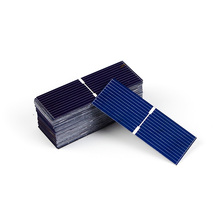 JSLINTER 100pcs 52x19mm Solar Cell Photovoltaic Polycrystalline diy prices cheap Solar Panel 17.8 Effecieency 0.5V 0.17W(China)