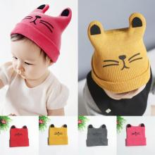 Baby Hats With Ears Baby Toddler Kids Boy Girl Knitted Crochet Cat Ear Beanie Winter Warm Hat Caplowest price