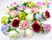 3-4cm Artificial Silk Flower Rose Head Diy Flower Ball Wedding Decoration Accessories 12pcs/lot D027017015