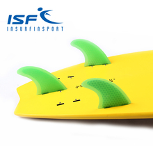 Free Shipping!!! Green Fiberglass FCS Surfboard Fins/Surf Fin/Fcs Fins With Honeycomb(China)