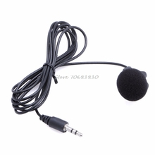 Mini Hands Free Clip On Lapel Microphone Mic For PC Notebook Laptop Skype 3.5mm #R179T#Drop Shipping