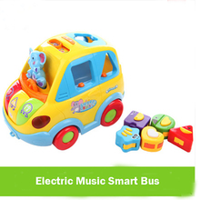 Education Toys Electric Car Huile896 Innovative Learning Toy Car Toys Children Free Delivery Children's Toys Electric Smart Bus