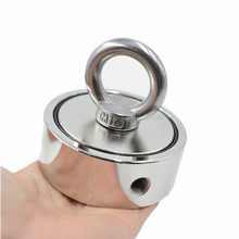 Strong Neodymium Magnet Double side Search magnet hook super power Salvage Fishing magnetic D74*28mm 150KGx2 Stell Cup holder(China)