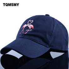 TQMSMY 100% Cotton Men Snapback Daddy Baseball Caps Women Flamingo Pattern Embroidery Sun-shade Hip Hop daddy Hats TMDH02