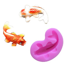 Silicone Fondant Cake molds 3D Fish Candle Moulds Soap Mold Chocolate Mould for The Baking Tools