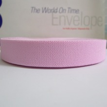 "12 Meters 1"" 25mm Wide #009 BABY PINK Color Suspender Elastic Webbing Great For Pacifier Clips(China)"
