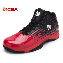 2017 Brand Men Basketball Shoes Leather Men Basketball Sneakers Black Red Basketball Boots High Top Sport Shoes Men Trainers