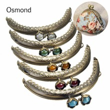 Osmond 5pcs lot Bronze Gourd Head Knurling Semicircle Coin Purse Frames Metal Kiss Clasp Clutch Bags DIY Replacement Accessaries
