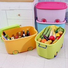 New Plastic Office Desktop Storage Boxes Makeup Organizer Storage Box Household   Cleaning Tools Kids Toy Organizer
