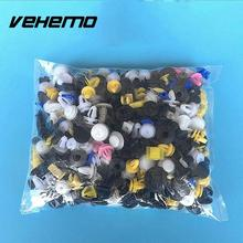 Vehemo 103106 150 Pcs Bumper Fender Cover Automotive Plastic Auto Trim Clip Fasteners For Cars Car-styling