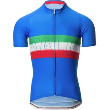 Italy Blue mens cycling jersey short sleeve cycling clothing summer bicycle clothes mtb/road bike wear wielren kleding heren