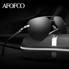 AFOFOO Aluminum Magnesium HD Polarized Sunglasses Classic Brand Design Men Driving Mirror Sun glasses UV400 Male Shades Eyewear