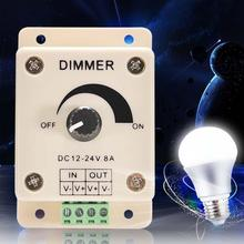 High Quality 12V 8A 96W PIR Sensor LED Protect Strip Light lamps Switch Dimmer Adjustable Brightness Controller#APJ