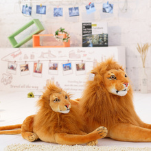 40cm Emulational Toy Plush Stuffed Life-Like lion Lying Posture Artificial Animal,Brown 1pcs