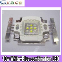 50pcs 10W Custom Made White & Blue Hybrid Aquariums DIY Led DC9-11V 900mA free shipping
