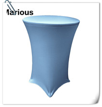 Big Discount !!! Top quality 20pcs Blue   spandex lycra cocktail table cover ( Dia 75*120cm H) Free Shipping