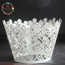 50pcs Wedding paper cake art paper cake paper cupcake wrapper,laser cut cup cake wrapper,baby party shower  cup cake