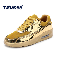 TOURSH 2017 Bright Color Mens Sneakers Soft Air Cushion Boy Lace-up Running Shoes Man Breathable Sport Shoes zapatos para correr(China)