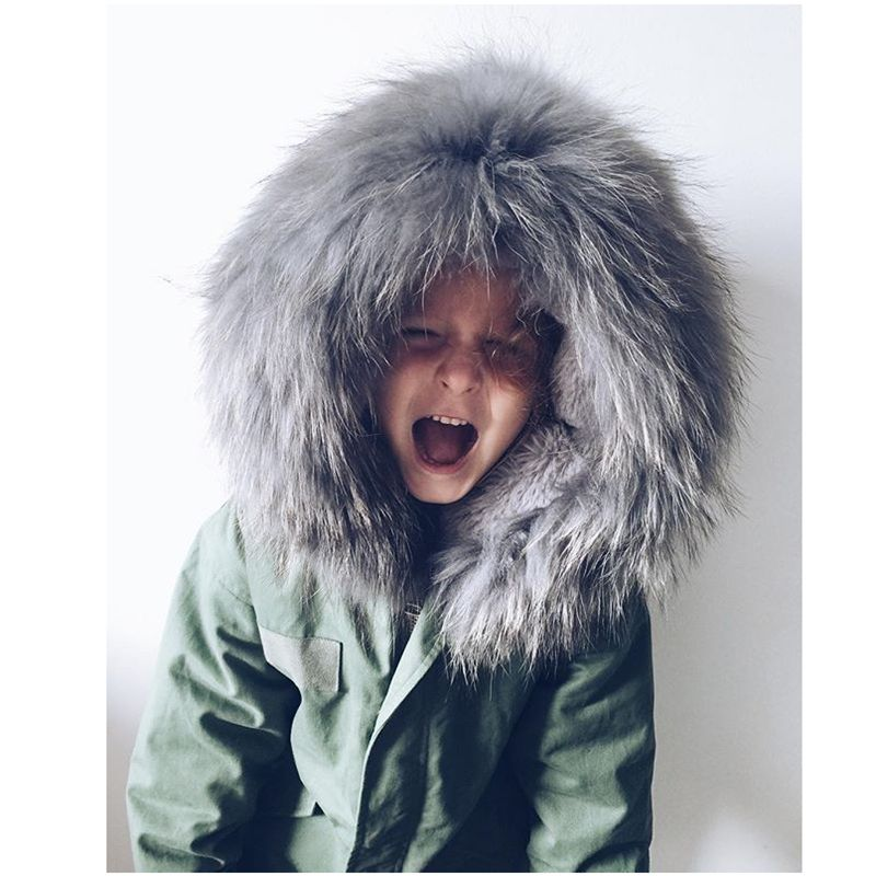 New Fashion Winter Boy Girls Army Green Coat Thicken Children Cotton-Padded Clothes Europe Style High-End Kids Clothes HL0956Одежда и ак�е��уары<br><br><br>Aliexpress