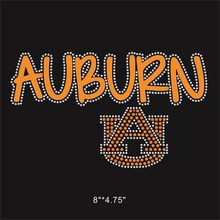 25 Pieces/Lot Auburn Football Custom Rhinestone Applique Bling Bling For DIY Apparel