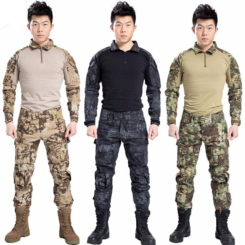 USMC Military Uniform BDU Tactical Suit Hunting clothing Combat Shirt Pant Airsoft acessorios Paintball Equipment Gear<br><br>Aliexpress