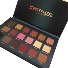Beauty Glazed 18 Colors Matte Eyeshadow Palette  Shimmer Pigment Eye Shadow Powder Cheek Blush Cosmetic Eye Makeup Beauty