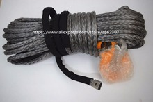 Free Shipping 12mm*30m Grey Winch Cable Rope, 4X4 Synthetic Rope,Tow Rope Car for Small Winches Recovery(China)