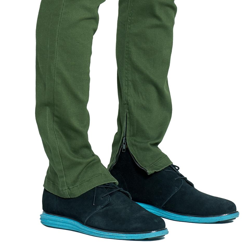 HTB1hyTAclUSMeJjSszeq6AKgpXaJ Army Green Ripped Jeans Fashion