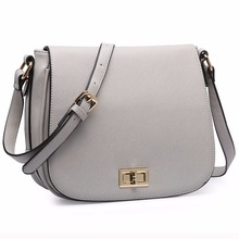 Miss Lulu New Fashion Women Girls Designer PU Leather Small Cross Body Shoulder Satchel Bag Black Brown Navy Gray 1662