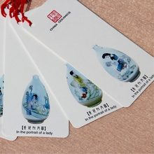 5pcs/lot China Faience Printing Classical Culture Bookmark Chinese Style Student Teacher Birthday Gift Trendy Stationery WZ