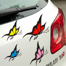3D  butterfly decoration automobile accessories ,die cut vinyl  stickers and decals for whole body on cars