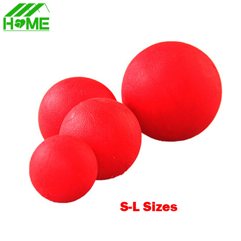 Red Solid Elastic Pet Ball Toys Newly Puzzle Rubber Chew Game Training Pet Dog Toy For Puppy Small Big Pets Dogs Jouet Chiot(China)